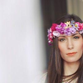 Crona de flores de primavera