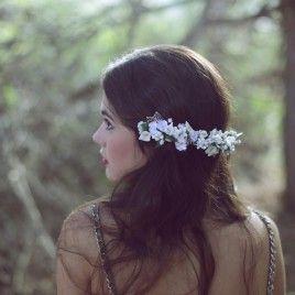 Tocados novia Flores Blancas