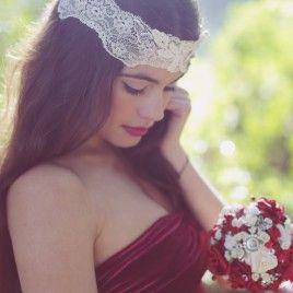 Tocado de novia Laura