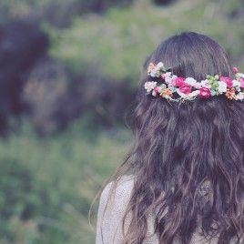 Corona de flores bohemia
